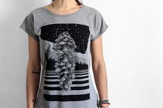 Pinecone T-shirt for woman  pine cone shirt  by hardtimesdesign