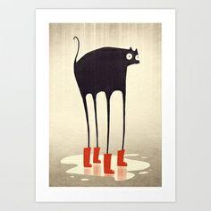 Wellies! Art Print by Dan Burgess - $17.00