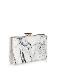 Le Dix mini marble-leather clutch | Balenciaga | MATCHESFASHION.COM UK