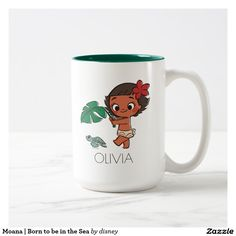 Moana | Born to be in the Sea. Regalos, Gifts. Producto disponible en tienda Zazzle. Tazón, desayuno, té, café. Product available in Zazzle store. Bowl, breakfast, tea, coffee. Link to product: http://www.zazzle.com/moana_born_to_be_in_the_sea_two_tone_coffee_mug-168014660309573201?CMPN=shareicon&lang=en&social=true&rf=238167879144476949 #taza #mug #moana