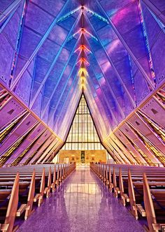 United States Air Force Academy Cadet Chapel in Colorado Springs.