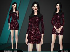The Sims Resource: Sequin Cavalli Dress by SIms4Krampus • Sims 4 Downloads