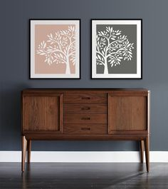 Set of Two Olive Tree Art Prints home decor by NikoAndLilyHome