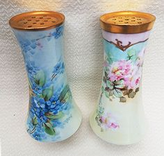 Beautiful O.E. & G Royal Austria 1900's Hand Painted 'Forget Me Not' Floral Sugar Shaker by Pickard Artist, 'Carl Koenig'