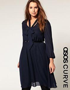 ASOS CURVE Midi Pussybow Dress  $69.84