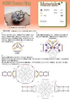 Beads Recipe[SW Flower Ring]