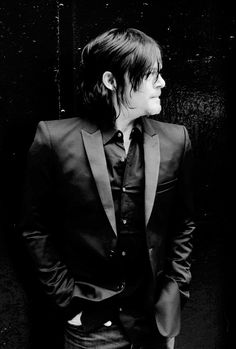 BLK DNM @BLKDNM Photo: NORMAN REEDUS IN TUX JACKET 25. PHOTOGRAPHED OUTSIDE OF BLK DNM NYC STORE.