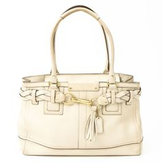 Coach Tote Bag In Ivory - so classic, love this so much!!
