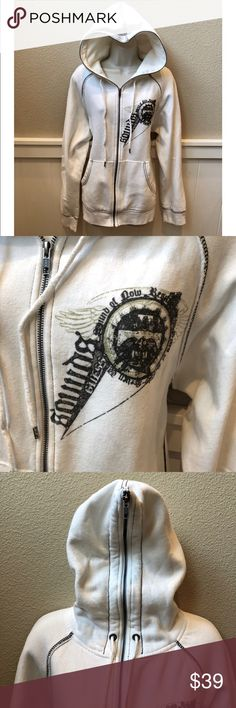 Unisex Guess Full Zip Up Hoodie. Sz L Unisex Guess Full Zip Up Hoodie. Sz L. Like new! Guess Sweaters Zip Up