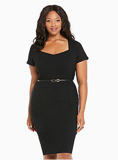 "<div>Your workwear dress rotation just got a major promotion. This black sweetheart neck dress is ideal for any work function, from power lunching to cocktails (note the curve-hugging fit). Part of our Noir Collection, the LBD is made with our Deluxe Stretch fabric that you can't live without. A belt only adds to the chicness.</div><div><br></div><div><b>Model is 5'11"", size 1</b></div><div><ul><li style=""LIST-STYLE-POSITION: outside !important; LIST-STYLE-TYPE: disc !important"">..."