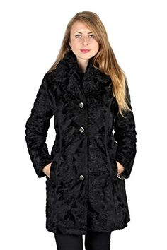 Laundry By Shelli Segal Black Faux Fur Reversible 34 Plus Size Coat 1X * Be sure to check out this awesome product.
