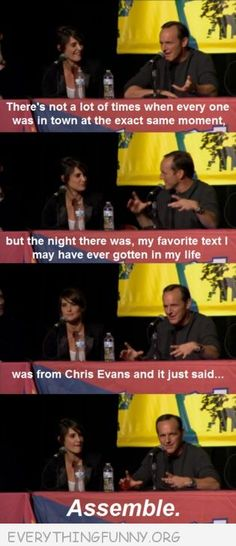 funny caption the avengers interview best text when chris evans texted assemble