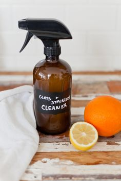 DIY Glass Cleaner & Stainless Steel Cleaner | Fresh Mommy Blog