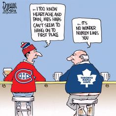 Unlike many Leafs fans, I actually like and respect the Habs. And I totally cheer for them (while they are not playing the Leafs) Hockey Teams, Sports Teams, Ice Hockey, William Nylander, Maple Leafs Hockey, Sports Humor, Funny Sports, Eyes On The Prize, Toronto Maple Leafs