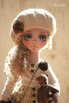 DIY Kit Ragdoll making supplies+sewing pattern Cat Pillow Easy to do Tilda style doll with cotton fabric and fleece primitive art rag dolls Pretty Dolls, Cute Dolls, Beautiful Dolls, Doll Eyes, Doll Face, Bjd Doll, Paperclay, Sewing Dolls, Little Doll
