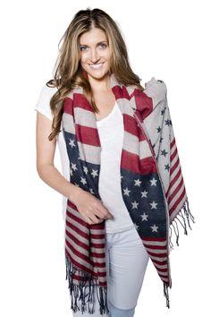 Flag Blanket Scarf