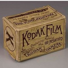 The Original from the @eastmanmuseum who recently purchased the only known box of #kodak #film for use in the camera we introduced in 1888. #eastmanmuseum #kodakfilm #tbt