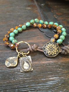 Lucky+Cowboy+Leather+Wrap+Bracelet+Rustic+Boho+door+TwoSilverSisters,+$32.00