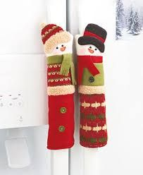 Snowman Holiday Appliance Handle Covers- Set of Three Polyester - Dress up your oven and refrigerator handles. Get in the spirit! Christmas Stockings, Christmas Crafts, Christmas Decorations, Xmas, Holiday Decor, Christmas Holidays, Fridge Handle Covers, Fridge Decor, Hostess Gifts