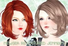 Jennisims: Downloads sims 3:Newsea Hair Blitz Retextured Females and Males All…