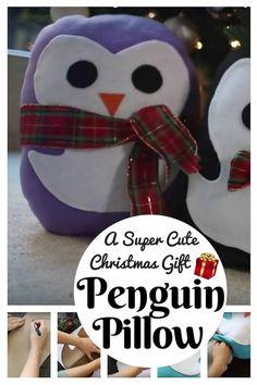 DIY Penguin Pillow: A Super Cute Christmas Gift - http://www.thebudgetdiet.com/diy-penguin-pillow-a-super-cute-christmas-gift?utm_content=snap_default&utm_medium=social&utm_source=Pinterest.com&utm_campaign=snap