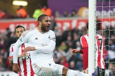 Ashley Williams against Southampton in the 0-1 loss