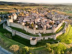 Carcassonne castle in South France, the most visited in France. Stay nearby by renting a house in France near Medieval Town, Medieval Castle, Carcassonne France, Canal Du Midi, Boating Holidays, Languedoc Roussillon, Walled City, Fortification, South Of France