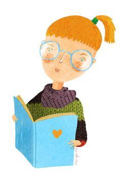 Reading with heart / Lectura con corazón (ilustración de Julia Grigorieva)