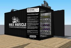 MAX MUSCLE container stores - 20'