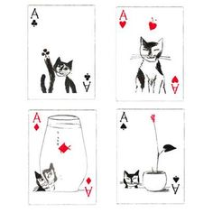 cat playing cards - Google Search
