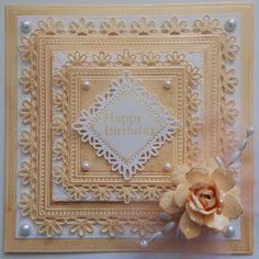 Quilling, Tonic Cards, Card Creator, Happy Birthday, Spellbinders Cards, Beautiful Handmade Cards, Shabby Chic Cards, Handmade Birthday Cards, Pretty Cards