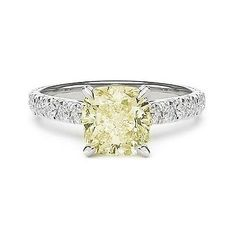 2.46 light fancy yellow diamond engagement ring 4624da0fe
