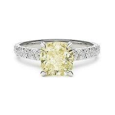 2.46 LIGHT FANCY YELLOW DIAMOND ENGAGEMENT RING