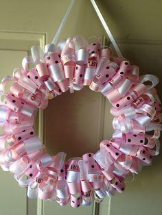 wreaths | Katie's Ribbon Wreaths: It's a Girl Ribbon Wreath