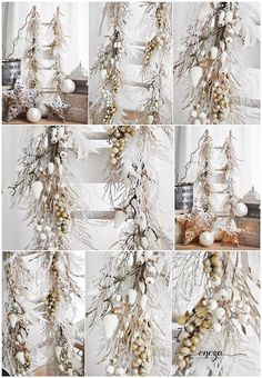 Christmas garlands for photo session , https://www.facebook.com/HandmadeByEncza , white&gold, christmas home decor