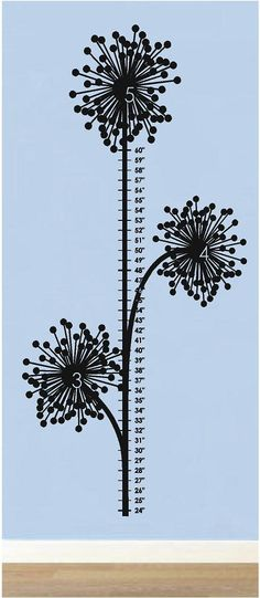 Dandelion Growth Chart - Nursery and Kids Room Vinyl Wall Decals Sticker Quotes on Etsy, $40.00