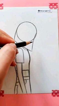 Cute Easy Drawings, Art Drawings Beautiful, Girly Drawings, Art Drawings Sketches Simple, Pencil Art Drawings, 3d Art Drawing, Drawings Of Friends, Diy Canvas Art, Art Sketchbook