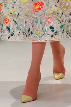Dior Spring 2013 Couture - Weird if you look at the feet and wonder where the toes are hidded.