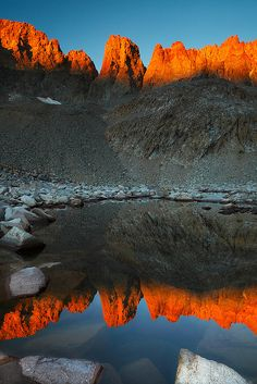 Upper Lakes Kaweah Basin Sunrise, Sequoia National Park