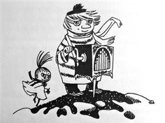 Too-Ticky - from the Moomin books by Tove Jansson Moomin Tattoo, Moomin Books, Children's Book Characters, Moomin Valley, Tove Jansson, Little My, Children's Book Illustration, Character Design, Artsy