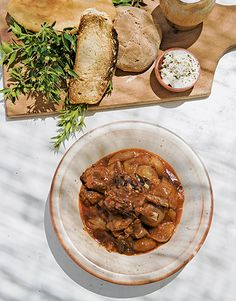 Traditional Greek lamb stew  http://www.greece-is.com/the-best-restaurants-where-to-dine-on-rhodes/