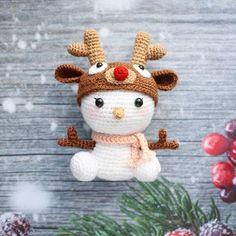 ⛄❄ Вот такая милая кроха получилась снеговичок связан по схеме Ruca's ❤ #christmascrochet
