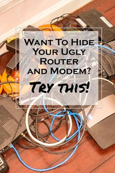 how to hide router living r rh pinterest com Electrical Mess Dashboard Control Panel Wiring Mess