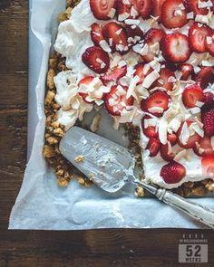 Helppo peltijuustokakku - 52 Weeks of Deliciousness Cheesecakes, Oatmeal, Food And Drink, Treats, Baking, Breakfast, Sweet, Party, Desserts