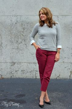 How to Wear Cropped Pants at the Office - Fizz and Frosting