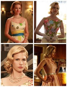 Betty Draper reminds me of Grace Kelly, but with more attitude. A lot more. Dark Blonde, Dark Hair, Wedding Hair And Makeup, Hair Makeup, Vintage Hairstyles, Wedding Hairstyles, Mad Men Party, Betty Draper, Grace Kelly