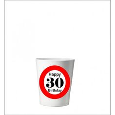 133 -  Geburtstagsgeschenk 30 Pflanzentopf ohne Pflanze Happy 30th Birthday, Shot Glass, Tableware, Plants, Gifts, Dinnerware, Dishes, Shot Glasses, Place Settings