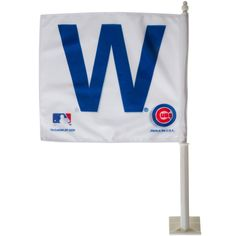 """Chicago Cubs Car Window """"W"""" Flag by Wincraft #Chicago #Cubs #ChicagoCubs"""
