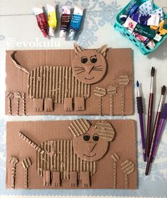 Cardboard Animals, Cardboard Crafts, Paper Crafts, Diy And Crafts, Crafts For Kids, Arts And Crafts, Art Projects, Projects To Try, Toddler Teacher