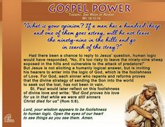Gospel Power - Tuesday 2nd Week of Advent